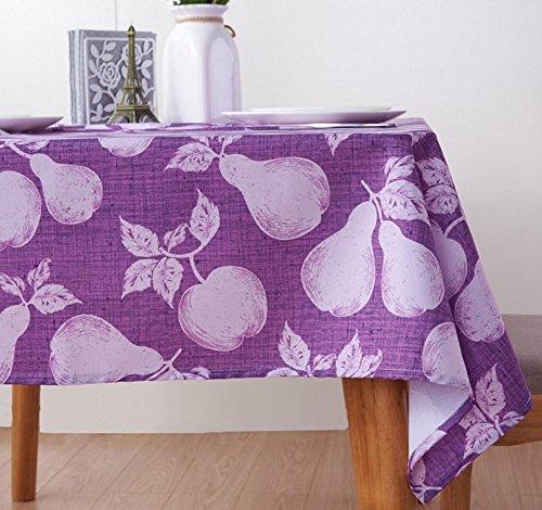 Rectangle Nappe Tache-Résistant Polyester Impression Lavable À Manger Table Tissu pour Accueil Un Hôtel Café Restaurant LAD-I , purple , 100*100cm