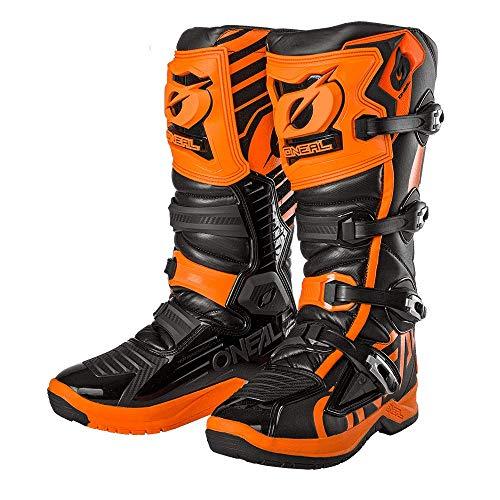O\'NEAL | Motocross-Stiefel | Enduro Motorrad | Anti-Rutsch Außensohle für maximalen Grip, Ergonomischer Fersenbereich, Perforiertes Innenfutter | RMX Boot EU | Erwachsene | Schwarz-Orange | Größe 43