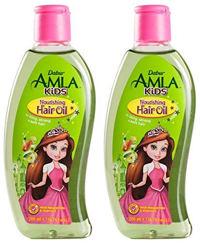 Dabur Amla Kids 200ml Haaröl für Kinder Haarpflegeöl kräftiges Weiches Haar Haarpflege (200ml x2)