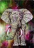 Kit de Pintura de Diamante DIY 5D Elefante animal Diamond Painting de Diamantes de Imitación Bordado de Punto De Cruz Manualidades para Decoración de la Pared del Hogar -Round drill,20X30 cm