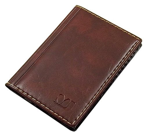 Elegante Tarjetero para Tarjeta de crédito y Tarjeta de Visita diseños (Diseño 1 / Marrón)