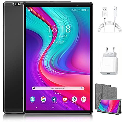 Tablet 10 Pollici -4G LTE Android 10, 4GB RAM + 64GB ROM, Octa-Core Tablets PC, adatto alla DAD Meet Bluetooth GPS WiFi,Suono Stereo con Doppio Altoparlante Doppia Fotocamera