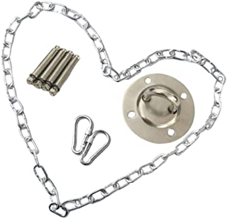 Yardwe Hammock Chair Hanging Kits Hardware 1.5m Metal Swing Chain Buckle Set for Indoor Outdoor Ceiling Swing Playground A...
