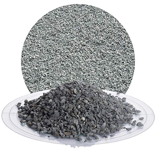 Schicker Mineral Diabas Splitt grau 25 kg in den Größen 1-3 mm, 2-5 mm, 5-8 mm, 22-32 mm, 32-56 mm, ideal zur Gartengestaltung, hellgrauer Naturstein Splitt (Diabas Splitt, 2-5 mm)