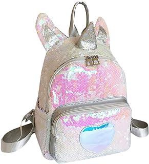 Valiclux - Mini mochila reversible para mujer, diseño de unicornio