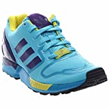 adidas ZX Flux Techfit Mens (OG Pack) in Bright Cyan/Purple/Yellow in, 8.5