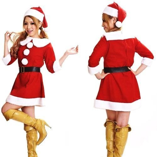 Costumi Babbo Natale Cosplay Lolita Donne X001R [set di 3] regolabile [FW] (japan import)