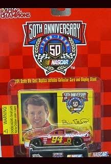 Racing Champions - NASCAR - 50th Anniversary - 1999 - Bill Elliott -No. 94 McDonald's Ford Taurus - 1:64 Die Cast Replica Car and Collector Card