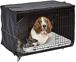 iCrate Dog Crate Starter Kit   36-Inch Dog Crate Kit Ideal for Medium/Large Dogs (weighing 41 - 70 Pounds)    Includes Dog Crate, Pet Bed, 2 Dog Bowls & Dog Crate Cover