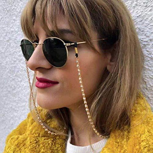 Bohend Moda Mujeres Cadena de gafas Oro Perlas Cadena de máscara facial Perla Mujeres Cadena de gafas de sol Accesorios Para vidrio Y mascarillas