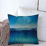 New-WWorld-Shop Kissenbezüge Abendblau Zusammenfassung Unter Sonnenuntergang Welle Tauchfläche...