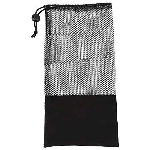 Ctzrzyt Bolso de Malla del CinturóN de TensióN de la Aptitud, Conveniente para el CinturóN de la Yoga de la Correa de TensióN, Negro Medio
