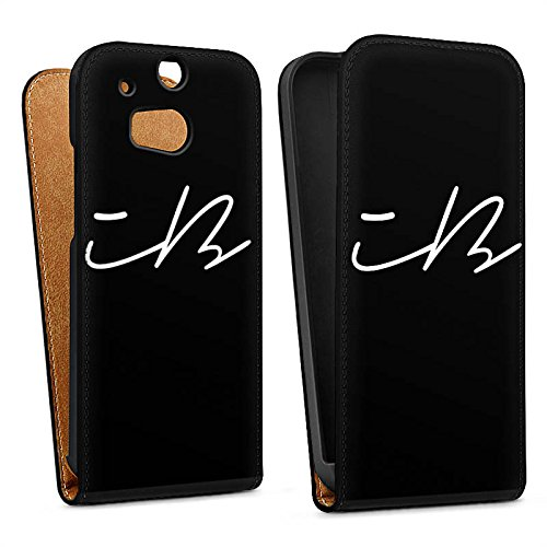 DeinDesign Tasche kompatibel mit HTC One M8 Flip Hülle Hülle Schwarz iBlali Youtuber YouTube