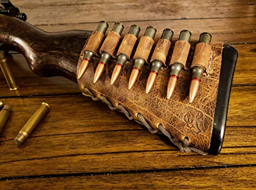 Handmade Leather Rifle Buttstock Cover