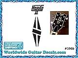 Gibson Hondo Guitar Decal Headstock Waterslide Restoration logo 196b