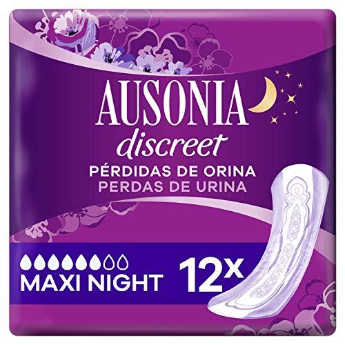 Ausonia Discreet Plus Maxi Noche, Compresas para Pérdidas De Orina, para Vejigas Hiperactivas X12