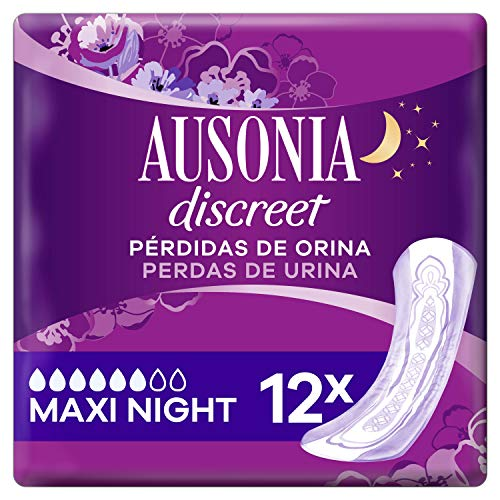 Ausonia Discreet Plus Maxi Noche, Compresas para Pérdidas
