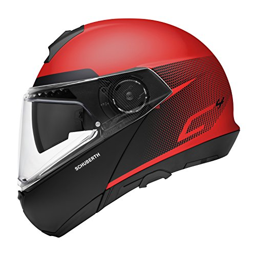 SCHUBERTH C4 Resonance Red Casco Modulare (XXL,rosso)