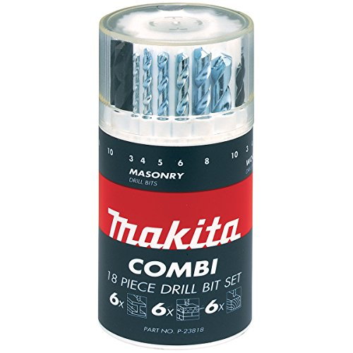 Makita P-23818 - Set di punte miste a codolo dritto, 18 pz