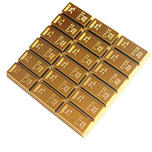 UPKOCH Goldbarren Deko Untersetzer Gold Bar Form Isolierte Kaffee Getränke Tasse Matte Gefälschte Goldbarren Zuhause Büro Dekoration Ornament für Tassen Tisch Bar Glas Gläser