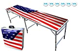 PartyPongTables.com 8-Foot Beer Pong Table w/LED Lights - Beer Pong Edition
