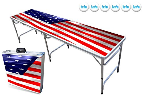 Review 8-Foot Professional Beer Pong Table - America Graphic