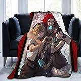 TVXQXIAH Anime-Kingdom-Hearts Kh-Iii Kairi-Sora-Axel Cosplay Ultra-Soft Micro Fleece Blanket50'' X4060 X5080 X60