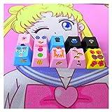 FATEGGS Conjunto de Llaves Key Cap Teclados Mecánicos KeyCap Lindo Diseño De Personalidad, DIY Kawaii PBT KeyCaps Cherry MX Axis R4 Altura, A3 KeyCaps Lindos Color : Random (10 PCS)