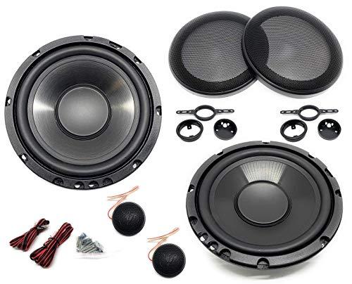 Sound-Way Kit Montaje Autoradio, Altavoces Coche 16.5 cm, Universales, Altavoz Coaxial 2 Vias, 120 Watts