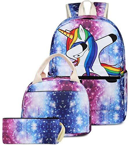 BLUBOON Backpack for School Girls Teens Bookbag Set Kids School Bag 15 inches Laptop Daypack (Pink)