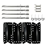 Hisencn Repair Kit Replacement for Stok SGP4330SB, SGP4331, Stok Quattro 4 Burner Grills, Parts Gas Grill Pipe Burners Tube, Heat Plate Tent Shield, Crossover Carry Over Tube, Igniters