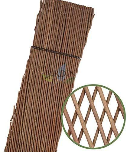Suinga CELOSIA de MIMBRE 100 x 200 cm para jardín. Seto artificial extensible.