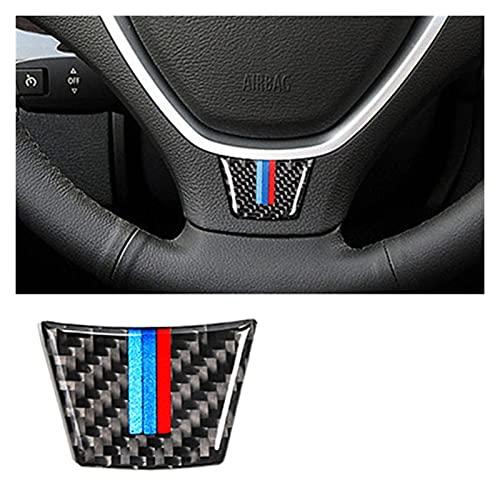 Cornice decorativa per volante Autoadesivo del volante in fibra di carbonio M Striscia Emblema 3D Autoadesivo auto compatibile con BMW E70 E71 2008-2013 x5 x6 Accessori per styling auto Cornice del pa