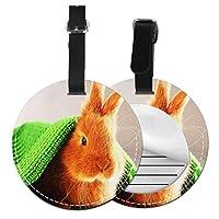 ネームタグ バッグ用ネームタグ 愛らしいかわいいうさぎウサギ, ネームプレート スーツケース 紛失防止 旅行 出張 対応用 荷物タグ