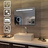 SONNI LED Bad Spiegel 80 x 60cm wandspiegel Badezimmer Lichtspiegel Badspiegel mit Beleuchtung mit...