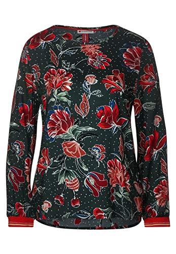 Street One Damen Bluse mit Blumenprint Endless Green 42