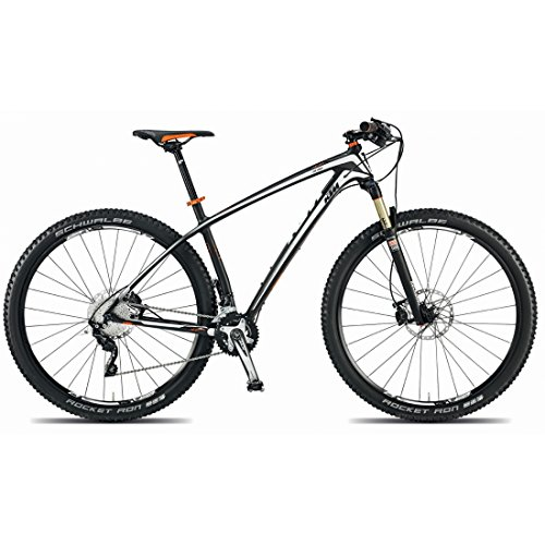 Ktm era 29Pro Mountain Bike 2015, Carbon Matt Bianco Orange RH 4310,70kg