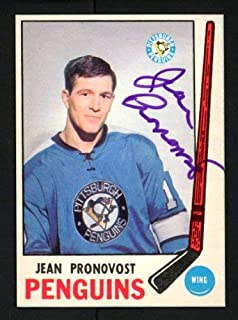 Jean Pronovost Autographed 1969-70 O-Pee-Chee Rookie Card #155 Pittsburgh Penguins - Certified Authentic