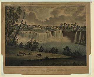 Photo Reprint The upper falls of the Genesee at Rochester, N.Y., from the east 1836