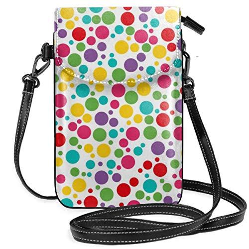 Liliylove Bunte abstrakte Regenbogen-Polkadot-Handtasche für Damen und Mädchen, leicht