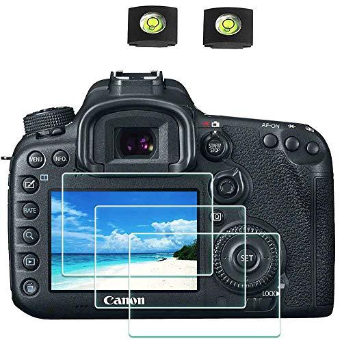 6D II Film de Protection d'Ecran pour Canon EOS 7D Mark II / 6D Mark II Appareil Photo et Housse de Sabot,ULBTER Protecteur Verre Trempé Optique 0,3mm Dureté 9H Anti-Rayure Anti-Bulle -Lot de 3