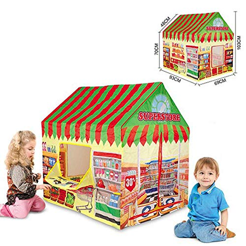 Ydq Kids Play Tent, Superstore Houses Great Tractor Toy, Sun Shelter Playhouse | Den for Indoor Outdoor Garden Gazebo for Children Camping Picnic Travel