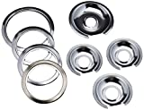 Range Kleen - Chrome Style D contains (3) 6' pan/ring & (1) 8' pan/ring for GE, Hotpoint, & Kenmore...