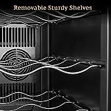 Weinkühlschrank Thermoelektrischer Getränkekühlschrank 25 Liter 8 Flaschen mit Soft-Touch-Bedienfeld, Glastür und LED-Beleuchtung, 8-18 °C Temperaturanzeige einschließlich 3 herausnehmbarer Regale - 3