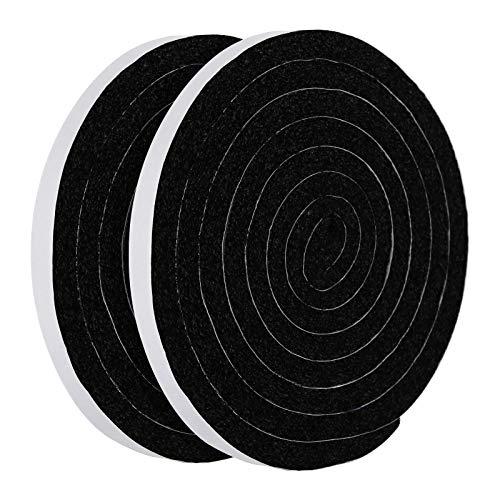 [Amazonブランド] Eono(イオーノ) 隙間テープ 防音 冷房効率アップ 音漏れ防止 サイズ:幅25mm x 長さ6m ブラック 節電 緩衝 気密 断熱 戸当たり 静音テープ 音楽ルーム
