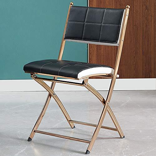 Folding chair Esstisch und Stuhl klappbar Home Adult Office Meeting Rückenlehne Tragbarer Computer Training Edelstahl Esszimmerstuhl Einfach zu klappen