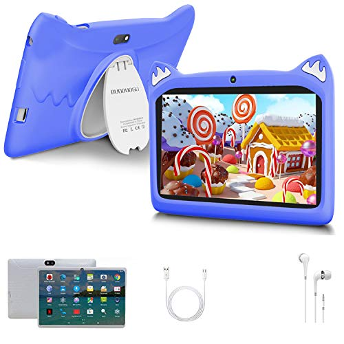 Touch Kids Tablet Android 10 OS 7' IPS Display 3GB RAM 32GB ROM / 128GB Scalable Kidoz & Google Play Pre-Installed with Kid-Proof Case (Purple)