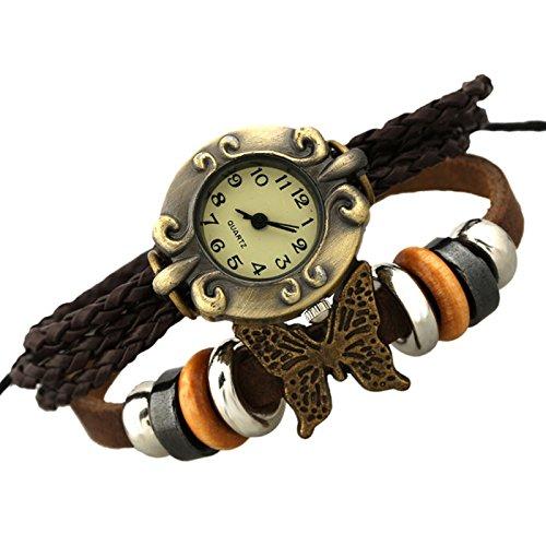 JZHJJ einfaches und stilvolles klassisches Armband Lederarmbanduhr Vintage Rindsleder beinhaltet: Armband,Armband Frauen,Armband männer,Armband Herren Gold,Armband Herz,Silber Armband