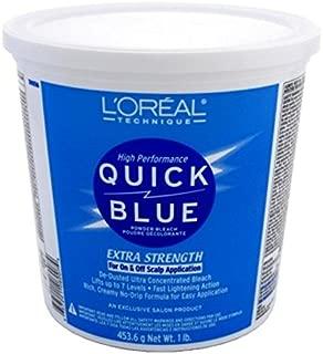 Loreal Quick Blue Powder Bleach Extra Strength 1Lb. (473ml) (6 Pack)