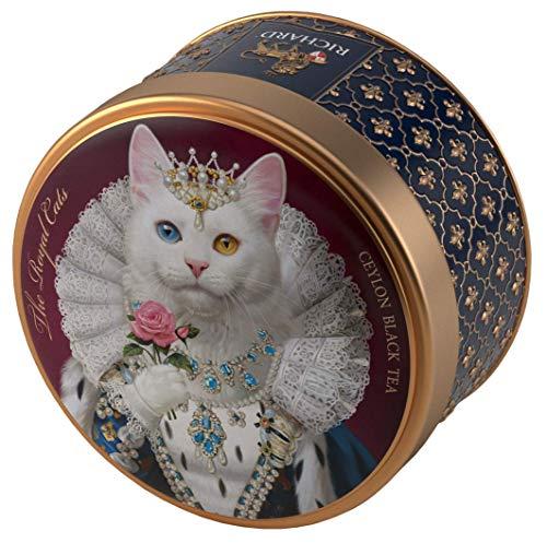 """リチャード ロイヤル セイロン紅茶(キャット柄)缶 Richard Ceylon Black Tea """"The Royal Cats"""""""